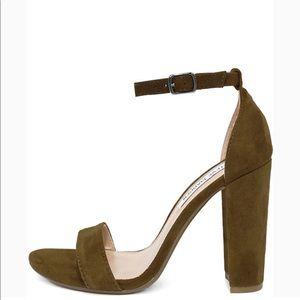 Olive Suede Heels